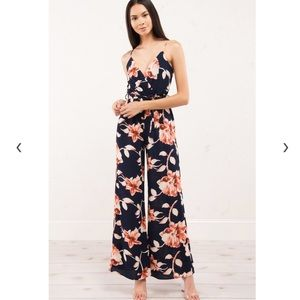 Akira floral jumpsuit, floral romper, size Small